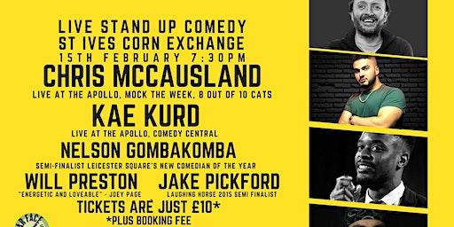 Live Stand up Comedy with Chris McCausland and Kae Kurd