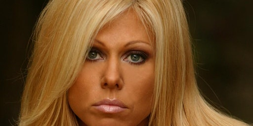 Terri Runnels at I play Wrestling convention Freehold NJ.