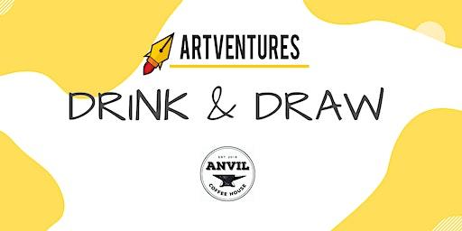 ArtVentures Drink & Draw: Illuminated Monograms
