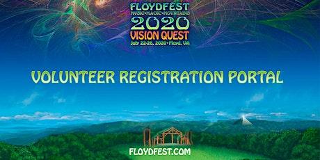 FloydFest 2020~Vision Quest Volunteer Registration Portal tickets