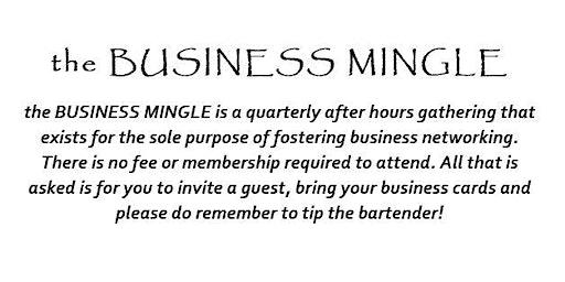 the BUSINESS MINGLE
