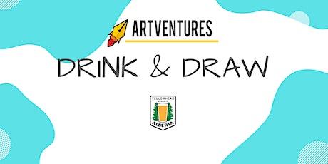 ArtVentures Drink & Draw: Bookmarks tickets