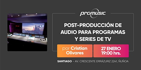 Post-Producción de audio para programas y series de TV tickets