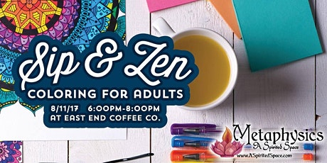 Coloring and Coffee at East end Coffee July tickets