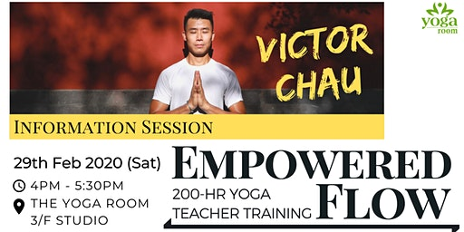 200-hour Yoga Teacher Training with Victor Chau - Info Session