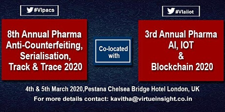 8th Annual Pharma AntiCounterfeiting & Serialisation 2020 tickets
