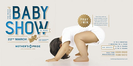 BABY SHOW CONTEST- 22 MARCH 2020 | REGISTER NOW!