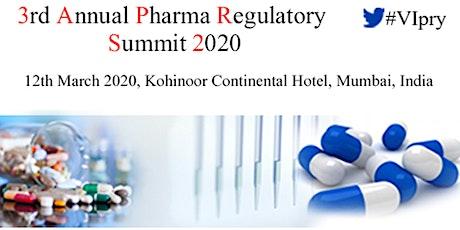 3rd Annual Pharma Regulatory Summit 2020 tickets