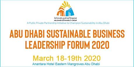 Abu Dhabi Sustainable Business Leadership Forum 2020 tickets