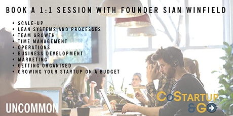 Startup, Scale up or Operations Advice 1:1 Sessions tickets