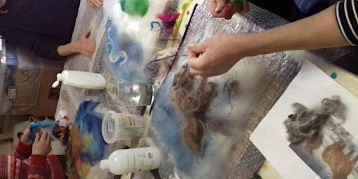 Wet felted pictures workshop