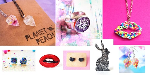 Resin Jewellery Workshop with Planet Peach at Art Space G41
