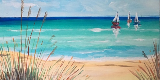 Paint Party Event - 'Beach View' at The Falcon, Whittlesey