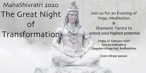 Great Night of Transformation - Yoga, Meditation and Tantra