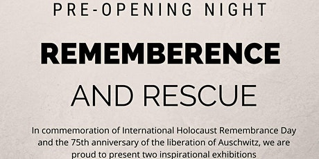 REMEMBRANCE AND RESCUE  tickets