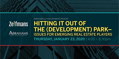 Hitting it out of the park - Issues for emerging Real Estate players tickets