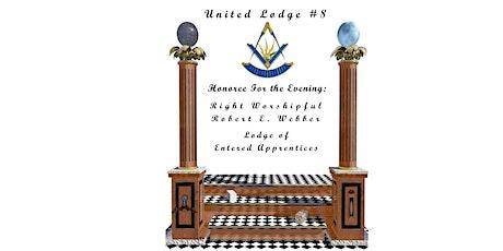 United Lodge #8 Table Lodge - Honoring Bob Webber tickets