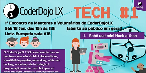 CoderDojo LX TECH #1 - Robô root Hack-a-thon
