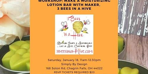 Workshop: Make a Moisturizing Lotion Bar