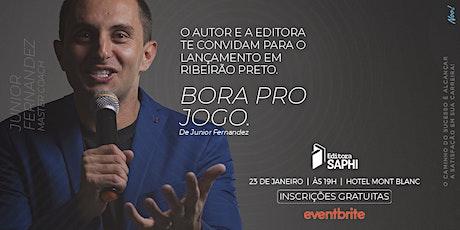 """Lançamento do livro """"Bora pro Jogo."""" De Junior Fernandez ingressos"""