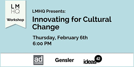 Innovating for Cultural Change tickets