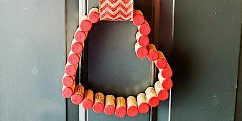 Valentine's Cork door hanger