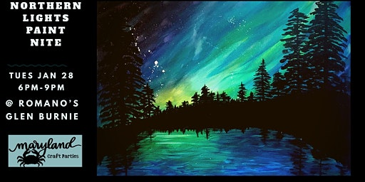 Northern Lights Paint Paint with Maryland Craft Parties