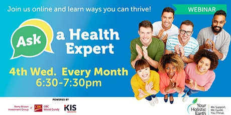 Ask the Health Expert - Online Evening - Physical Health  tickets