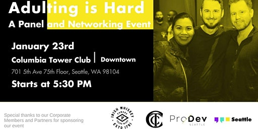 Adulting is hard - Panel & Networking Event