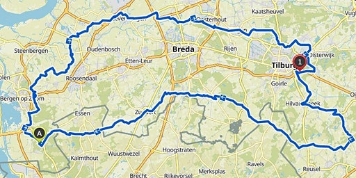 Bierbrouwersroute 220 Km by cycling team de bolusberg