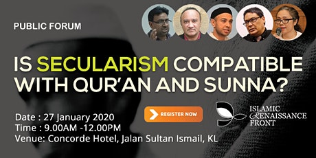 Is Secularism Compatible with Qur'an and Sunna? tickets