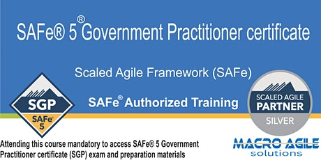 SAFe® 5 Government Practitioner Training & Certification tickets