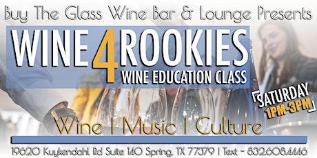 Wine 4 Rookies | Wine & Food Pairing tickets
