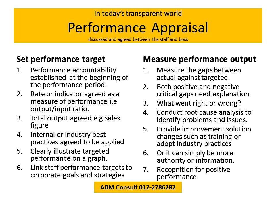 Staff Performance Appraisal : a critical measure of true performance