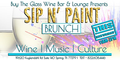 Sip n' Paint Brunch | A Paint & Wine Experience