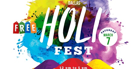 6th Annual Dallas HoliFest @McKinney – *FREE* Festival of Colors tickets