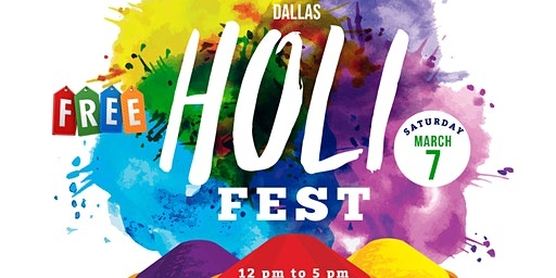 6th Annual Dallas HoliFest @McKinney – *FREE* Fest
