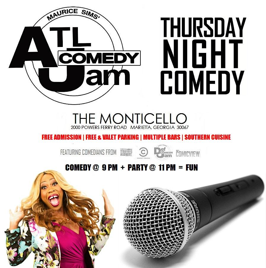 Thursday Night Comedy @ Monticello