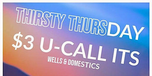 Thirsty Thursdays w/ DJ G-man and Forte on the Drums
