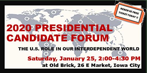 2020 Iowa City Presidential Candidate Forum