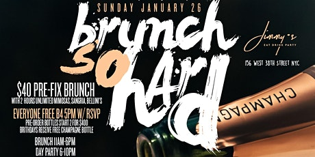 Brunch So Hard, 2hr Open Bar Brunch + Day Party, Bdays Celebrate Free tickets