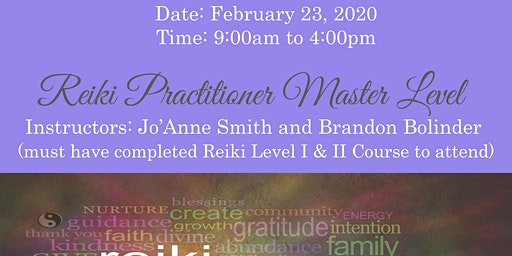 REIKI PRACTITIONER MASTER LEVEL CERTIFICATION WITH SALT LAKE MEDIUM, JO'ANNE SMITH & BRANDON BOLINDER REIKI MASTERS/TEACHERS
