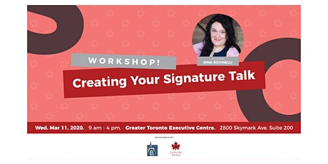 Creating Your Signature Talk - West End Edition tickets