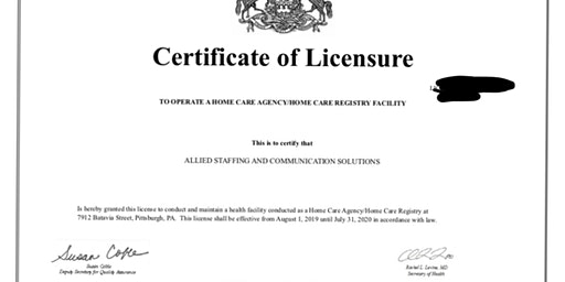 WOULD YOU LIKE TO START A HOME CARE AGENCY OR REGISTRY