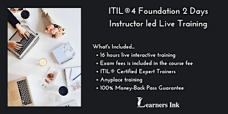 ITIL®4 Foundation 2 Days Certification Training in Las Cruces tickets