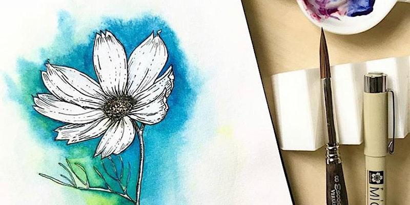 TN Workshop - Floral Line Art by The Tiny Blot