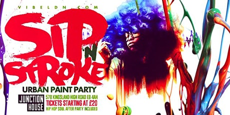 Sip N Stroke | Urban Paint Party  (8pm - 11pm) tickets