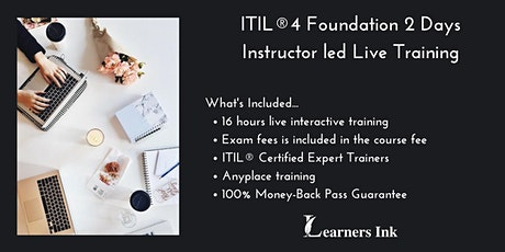 ITIL®4 Foundation 2 Days Certification Training in Clarksville tickets