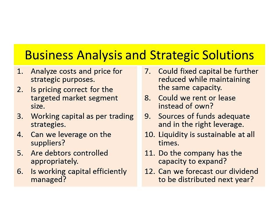 BUSINESS ANALYSIS AND STRATEGIC SOLUTIONS: A spreadsheet approach