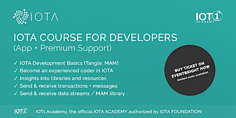 IOTA Course for Developers // Learning App with Premium Support tickets
